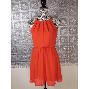 Dina Be Women's Orange Dress Size XS